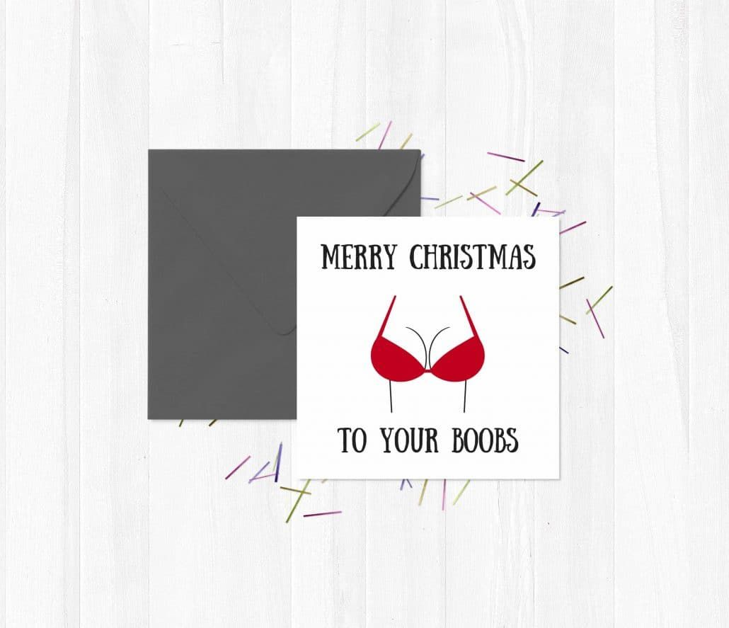 Rude Greetings Cards Merry Christmas To Your Boobs Christmas