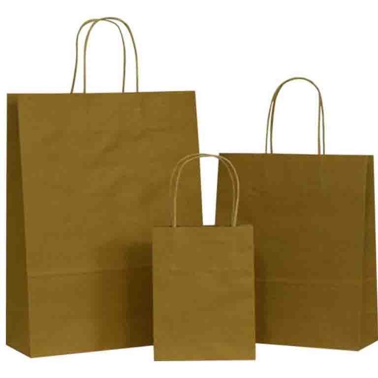 Bag Recycled Or Natural Brown Paper