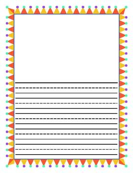 Here Is A Sample Of Primary Lined Paper Excellent For Students To