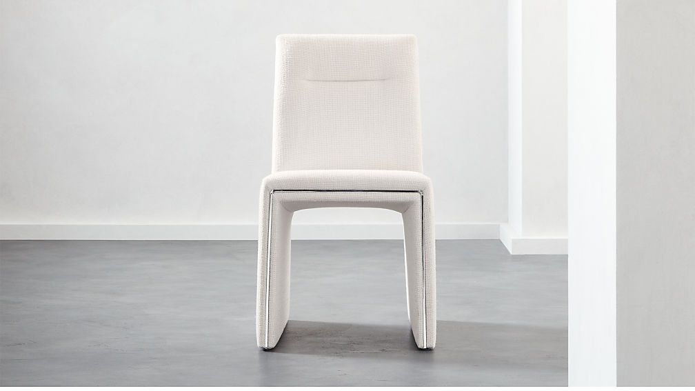 Silver Lining White Armless Dining Chair Chair Restoration
