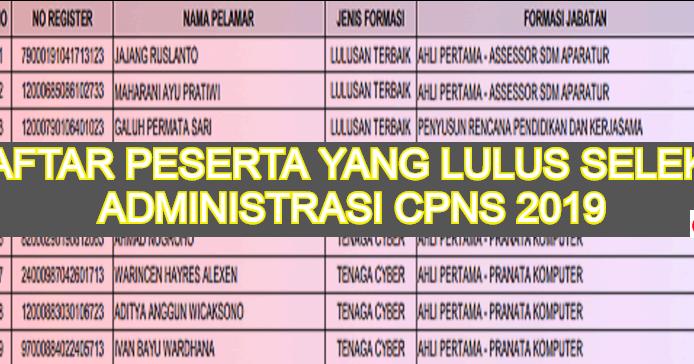 32+ Pengumuman hasil administrasi cpns kemenkumham 2019 pdf info cpns terbaru