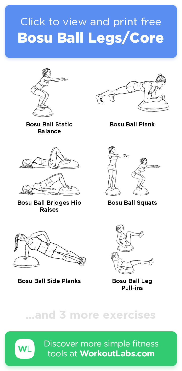 Bosu Ball Legs/Core click to view and print this