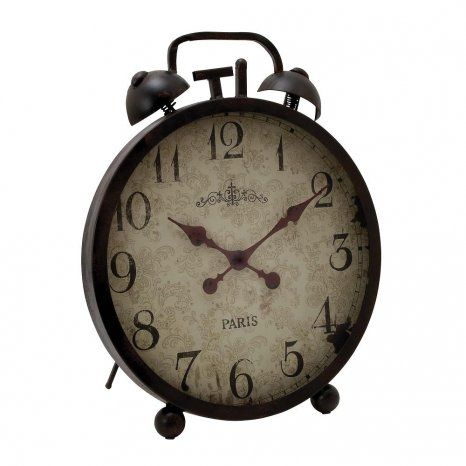Benzara Metal Clock With Ornate Clock Hands (EM124487)   Emporium.com