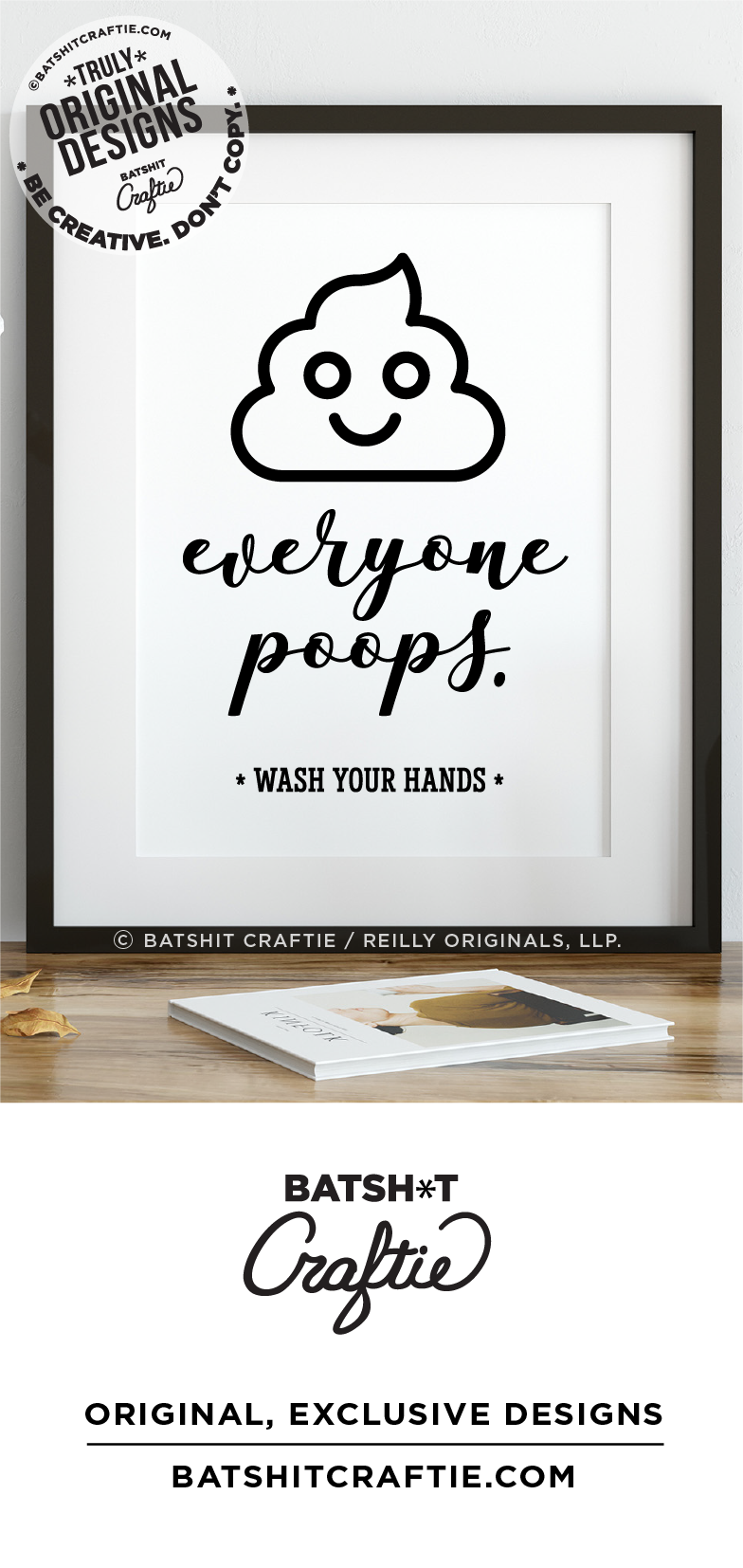everyone poops wash your hands funny bathroom sign
