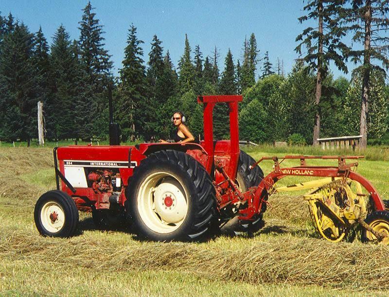 IH 584 And New Holland Hay Rake