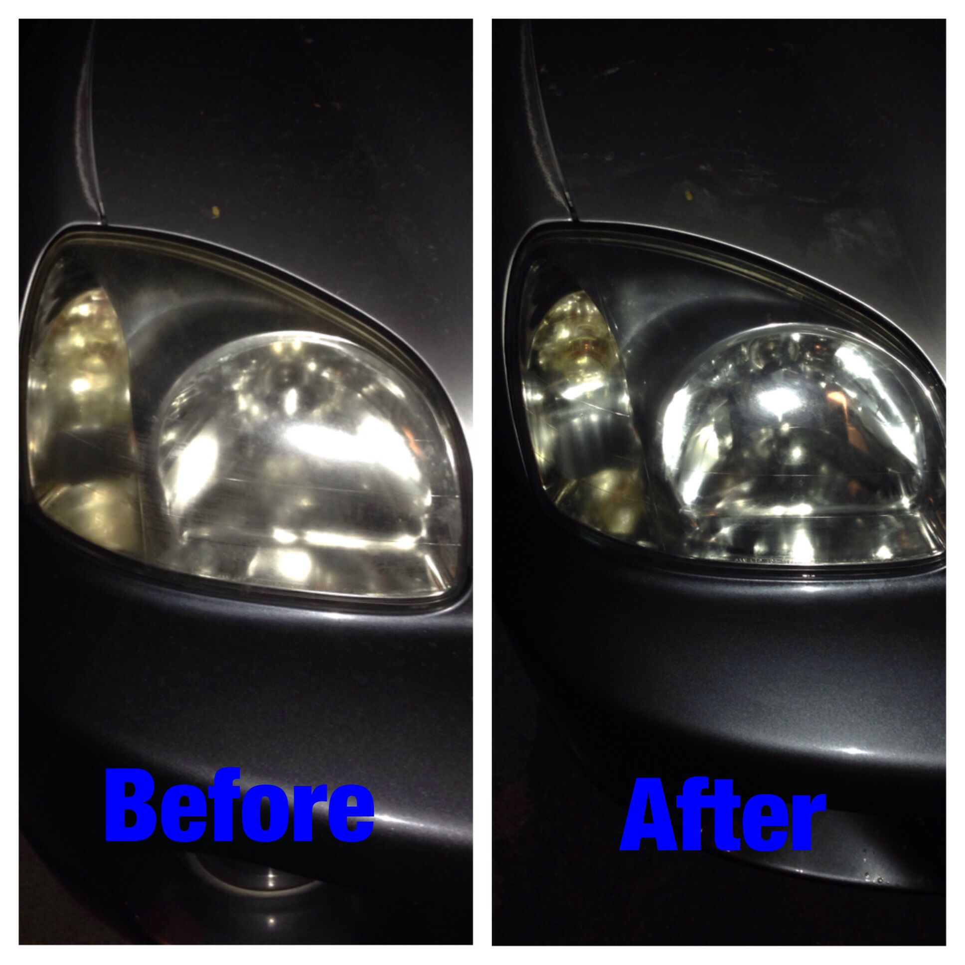 This is how the toothpaste on headlights trick worked for