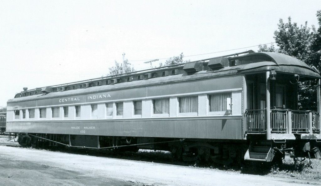 CI 100 MAUDE WALKER Description: ex-A&StAB Photo Date: 6/25/1960 Location: Anderson, IN Author: Jerry LaBoda Categories: RollingStock,Passenger