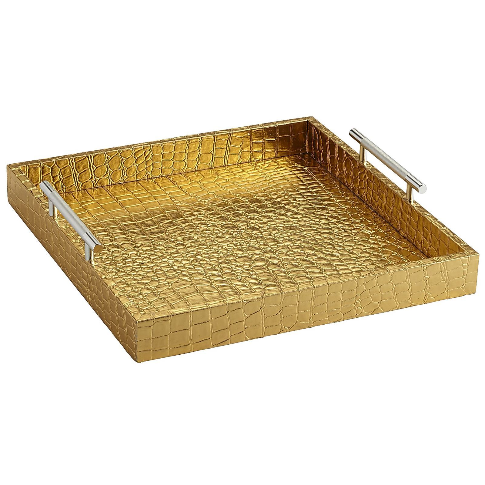 Faux Croc Tray - Square Gold | Pier 1 Imports. Serving TraysSquaresTrays