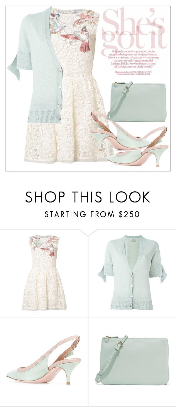 """Untitled #625"" by chanlee-luv ❤ liked on Polyvore featuring RED Valentino, Barrie and Sandro"