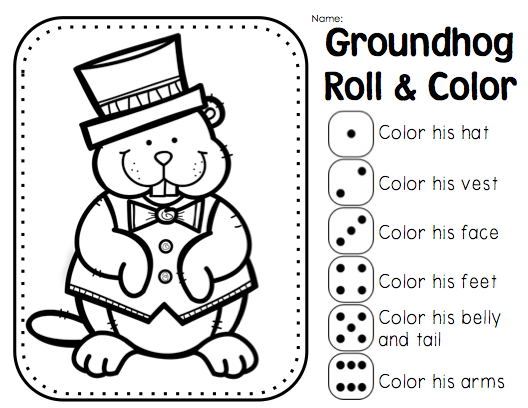 Groundhog Day Addition Sums to 10 Coloring Page from Joy from Joy – Groundhog Day Math Worksheets