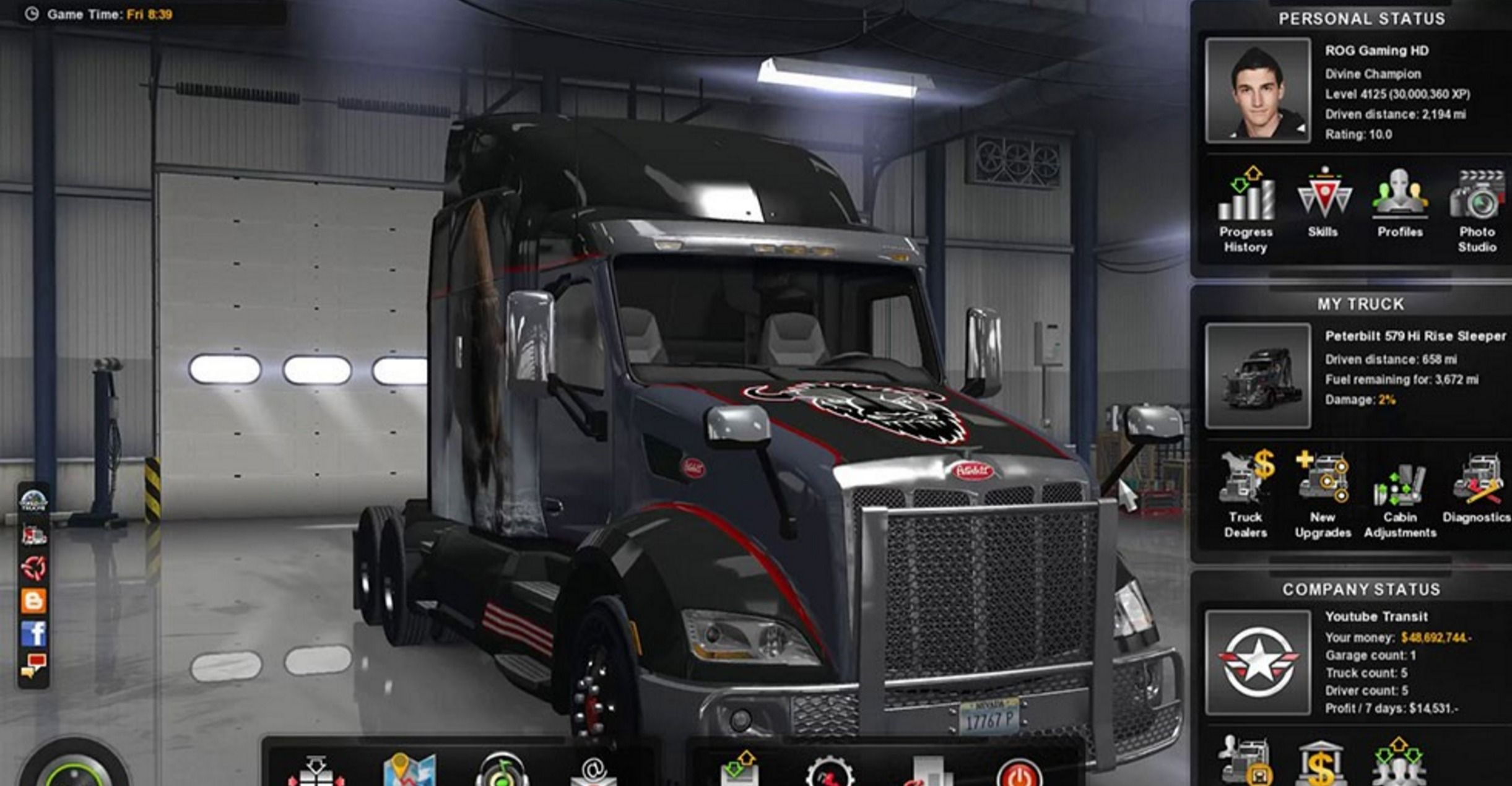 Save Game Level 4125 48 692 744 Mod American Truck Simulator Mod Ats Mod American Truck Simulator Mod Trucks