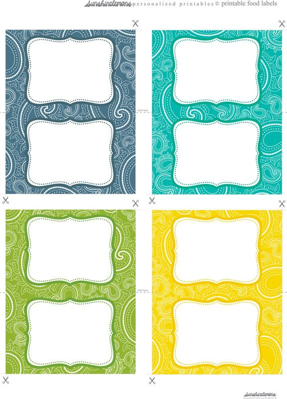 free food label printables in gorgeous paisley designs printables
