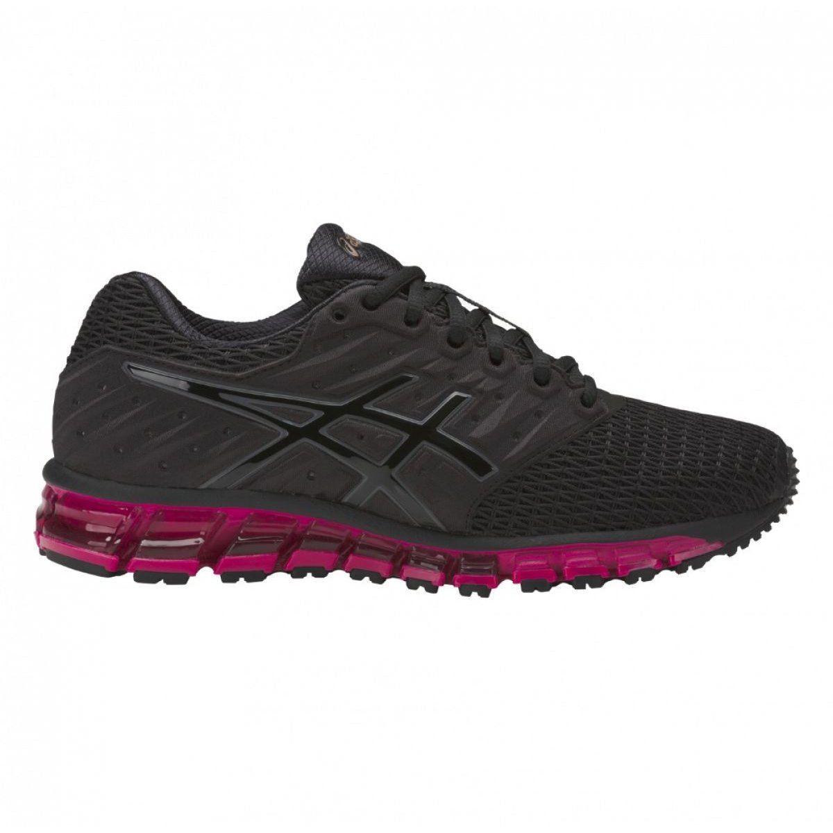 Buty Biegowe Asics Gel Quantum 180 2 W T6g7n 9090 Czarne Fioletowe Womens Training Shoes Training Shoes Asics Running Shoes