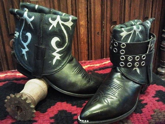 Flippin' Boots by G & C size W 9510 by GraceandCorazon on Etsy, $145.00