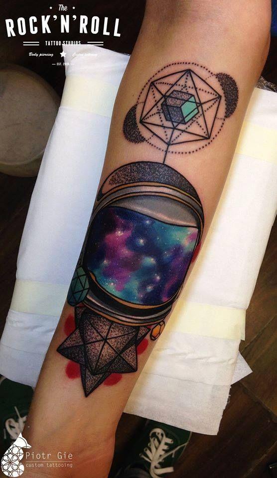 Geometric Galaxy Tattoo : geometric, galaxy, tattoo, Galaxy, Tattoo, Tattoo,, Space, Tattoos