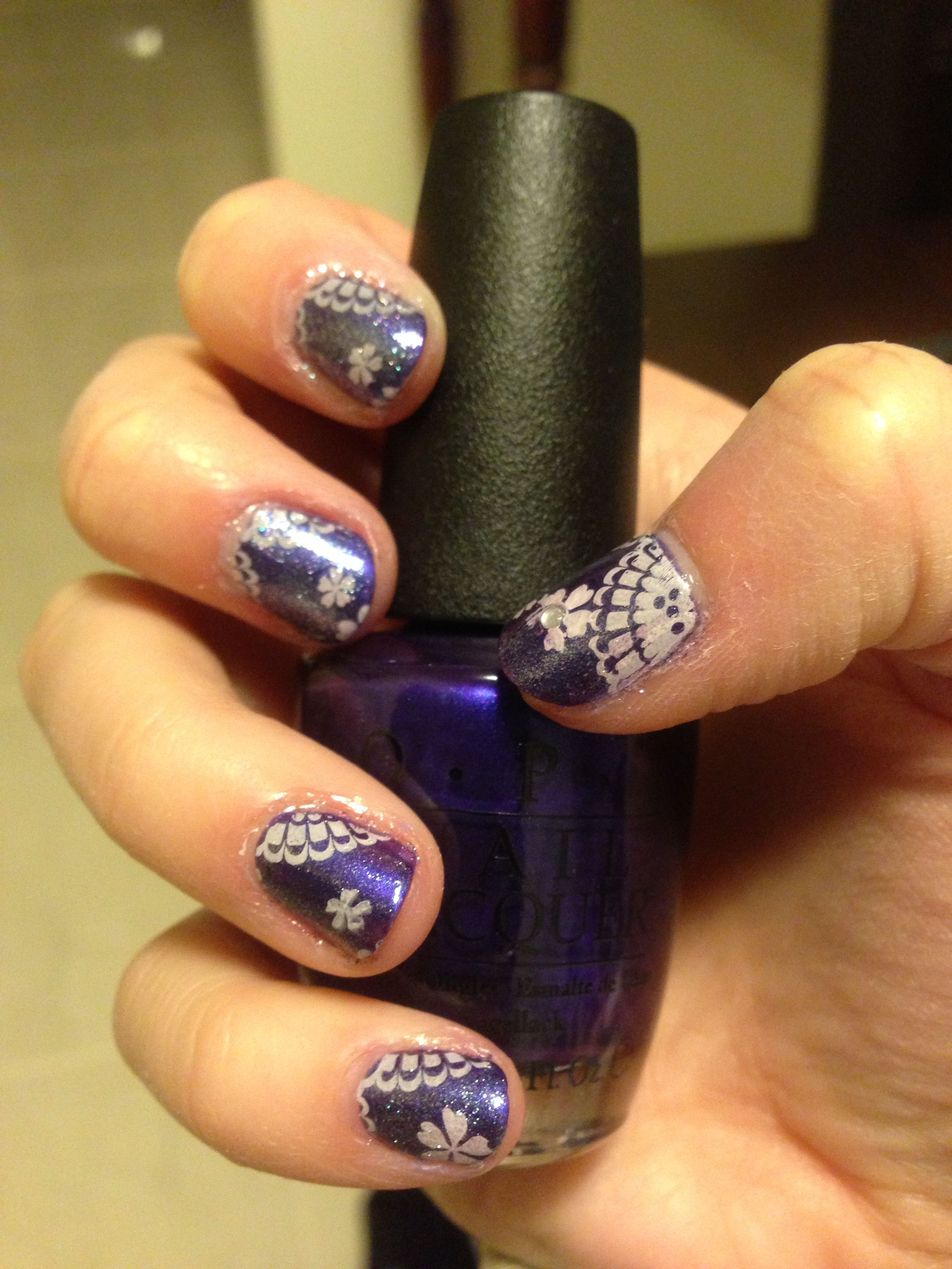 Konad image plate with opi tomorrow never dies essie luxeffects for