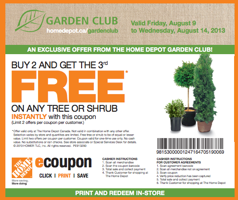 Home depot coupons project starter