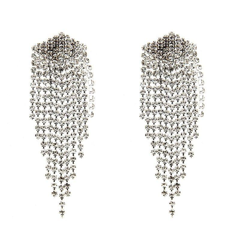 Belle Fashion Strass Cristal Rond Brillant Bijoux Boucles d/'oreilles Hoop Big