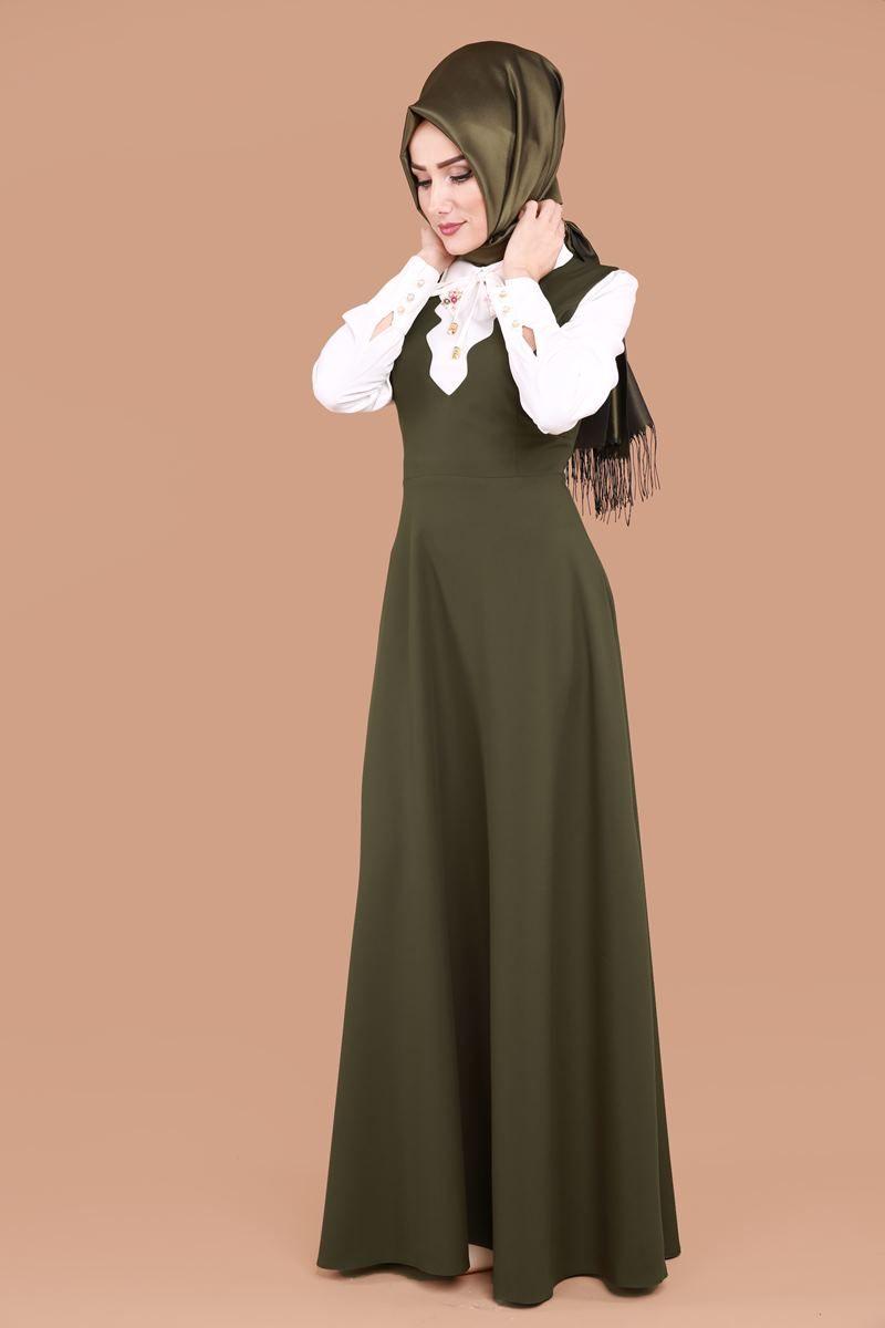 Lazer Kesim Gomlekli Jile Haki Urun Kodu Pn2014 159 90 Tl Moda Stilleri The Dress Moda Kiyafetler