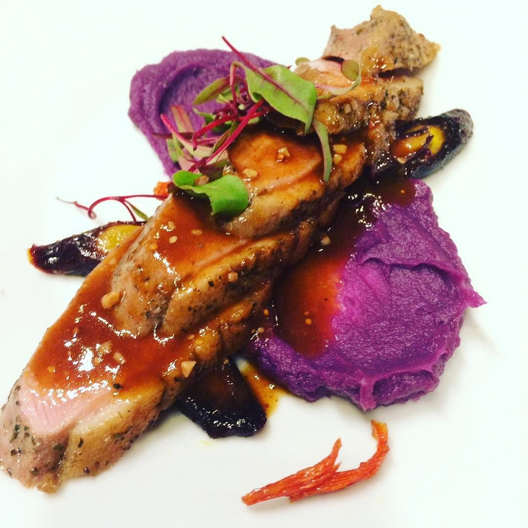 Seared duck breast - sweet potato - roasted carrots - sorrel - Rosemary #theartofplating #beautifulcuisines #foodporn #food #foodstagram #instafood #duck #carrot #purple #purplesweetpotato #finedining #winetasting #chef #cheflife #true #truecooks #sorrel #plating #colorful by jordancrimson