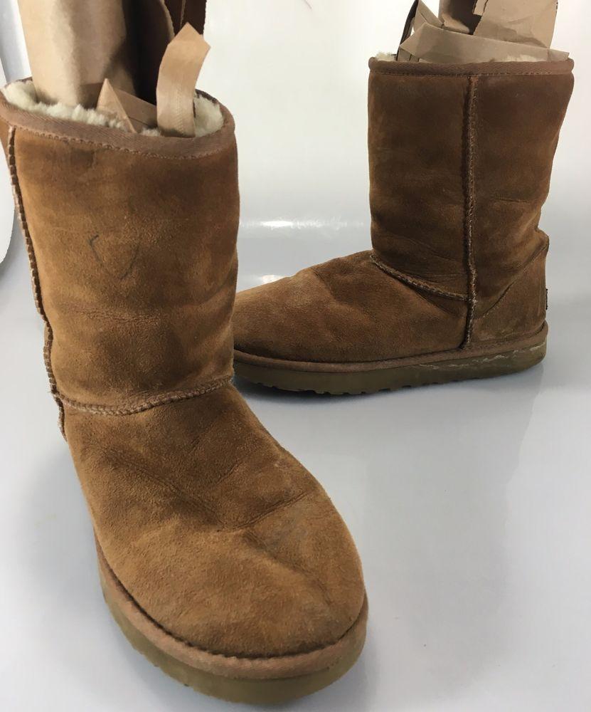 76e5923f116 UGG Australia Mens 10 Classic Short 5800 Chestnut Brown Sheepskin ...