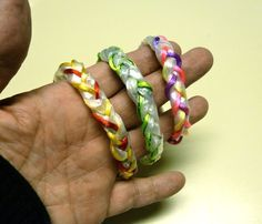 Recycled plastic bag bracelet                                                                                                                                                                                 More