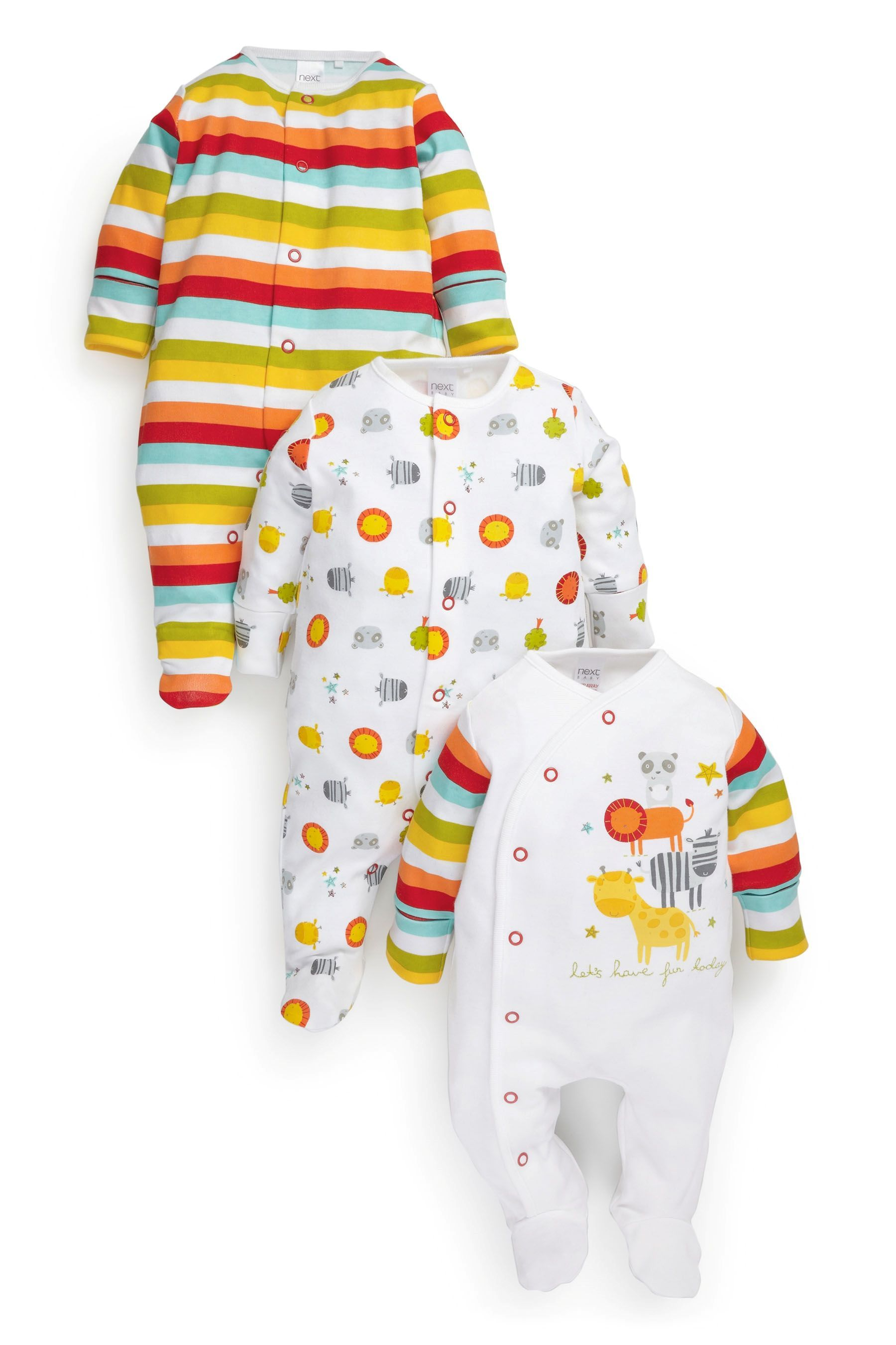 Buy Bright Sleepsuits Three Pack 0mths 2yrs from the Next UK