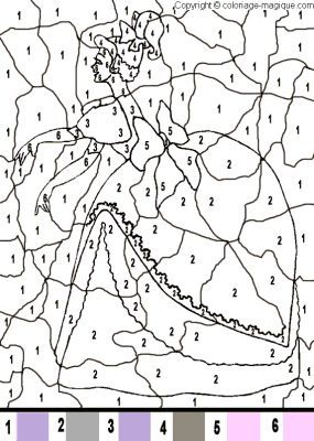 Coloriage magique princesse imprimer coloriage magique color coloring pages et color by numbers - Coloriage princesses disney a imprimer ...