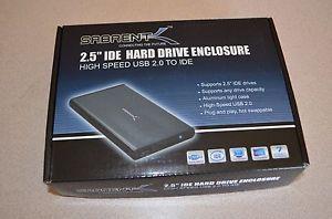 NIB Sabrent Usb 2.0 Ide 2.5in Hard Drive Enclosure SBT-EKU25 Black Aluminum Case