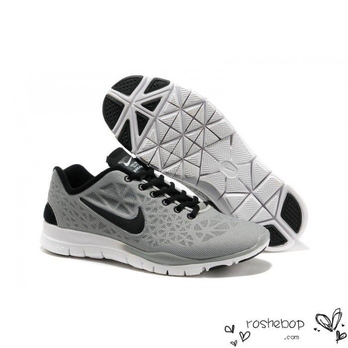 Mens Nike Free TR Fit 3 Breathe Gray Black Shoes - Nike Free Runs