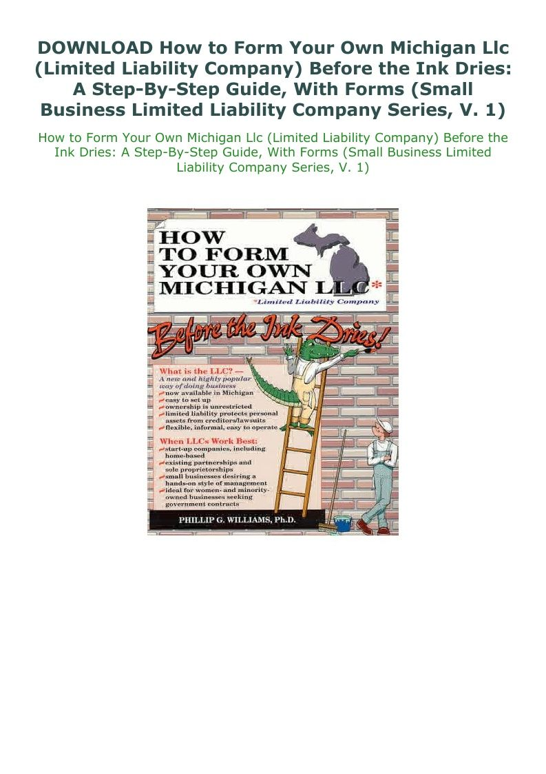 Download How To Form Your Own Michigan Llc Limited Liability Limited Liability Company Liability Michigan
