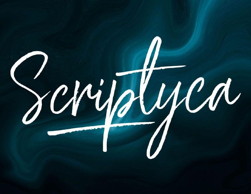 Scriptyca Free Bouncy Brush Font Brush Font Best Free Fonts