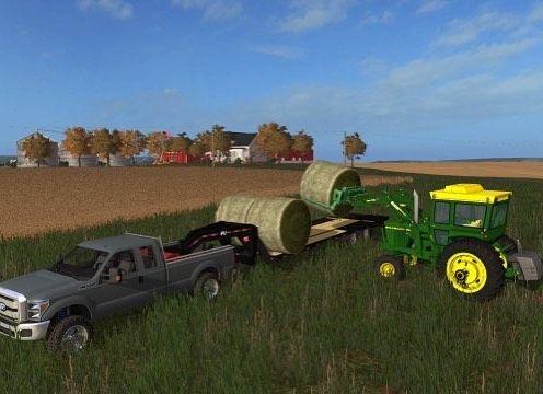 Haulin bales  #fs17 | hay bale hauler | Tractors, Monster trucks