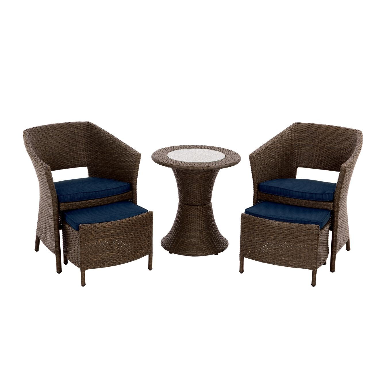 $350Living Accents Portland 5 Piece Wicker Chat Set   Bistro U0026 Bar  Collections   Ace
