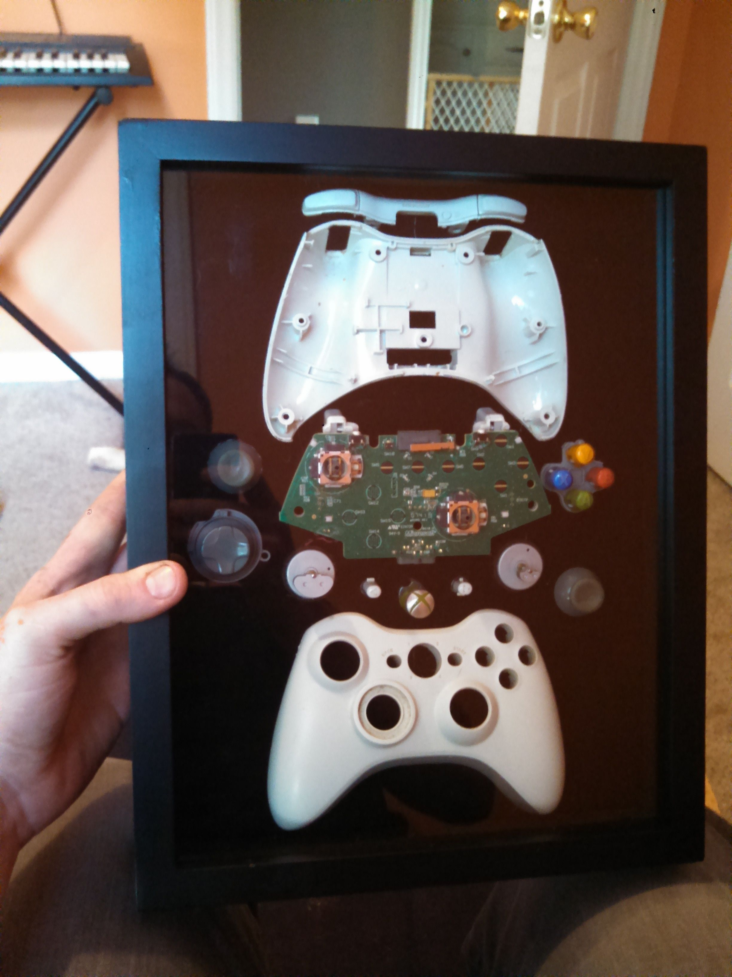 xbox 360 controller box imgur kinder u jugendzimmer pinterest ideen zocker zimmer und deko. Black Bedroom Furniture Sets. Home Design Ideas