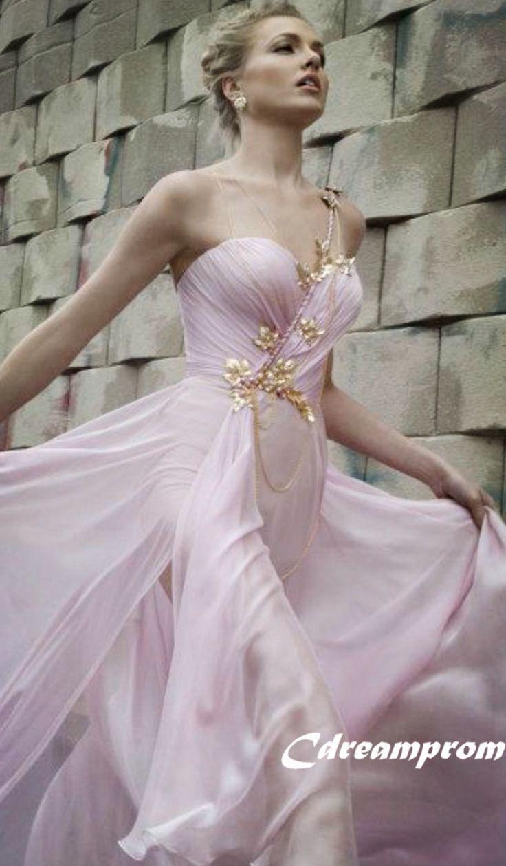 chiffon prom dress #prom #gown