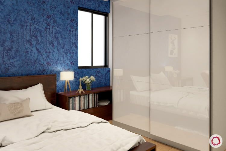 Wallpaper Vs Paint Insider Info You Need To Know Room Design Cupboard Design Blue Wallpapers
