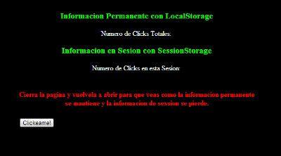 LocalStorage y SessionStorage – HTML5 Almacenamiento Web