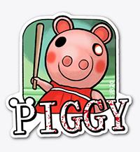 Piggy Sticker Roblox Schwein
