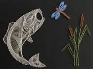 Resultado de imagem para fish string art