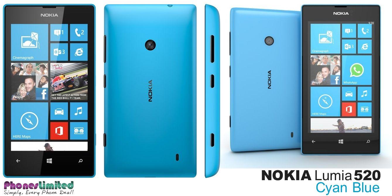 Daftar Harga Nokia Lumia 520 Update 2018 720 Resmi Cyan In Blue Deals