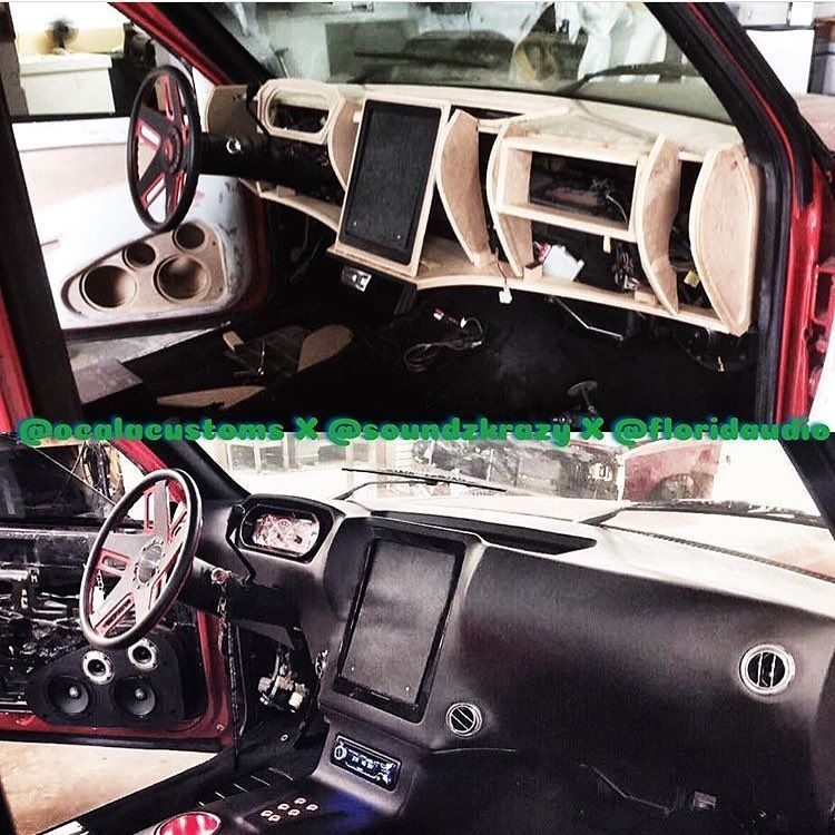 custom fiberglass dash interior door panels console tablet ipad becausess auto addiction. Black Bedroom Furniture Sets. Home Design Ideas