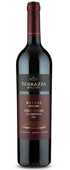 Terrazas De Los Andes Single Vineyard Malbec 2012 Le8319 Vinhos E Queijos Bebidas Sem Alcool Malbec