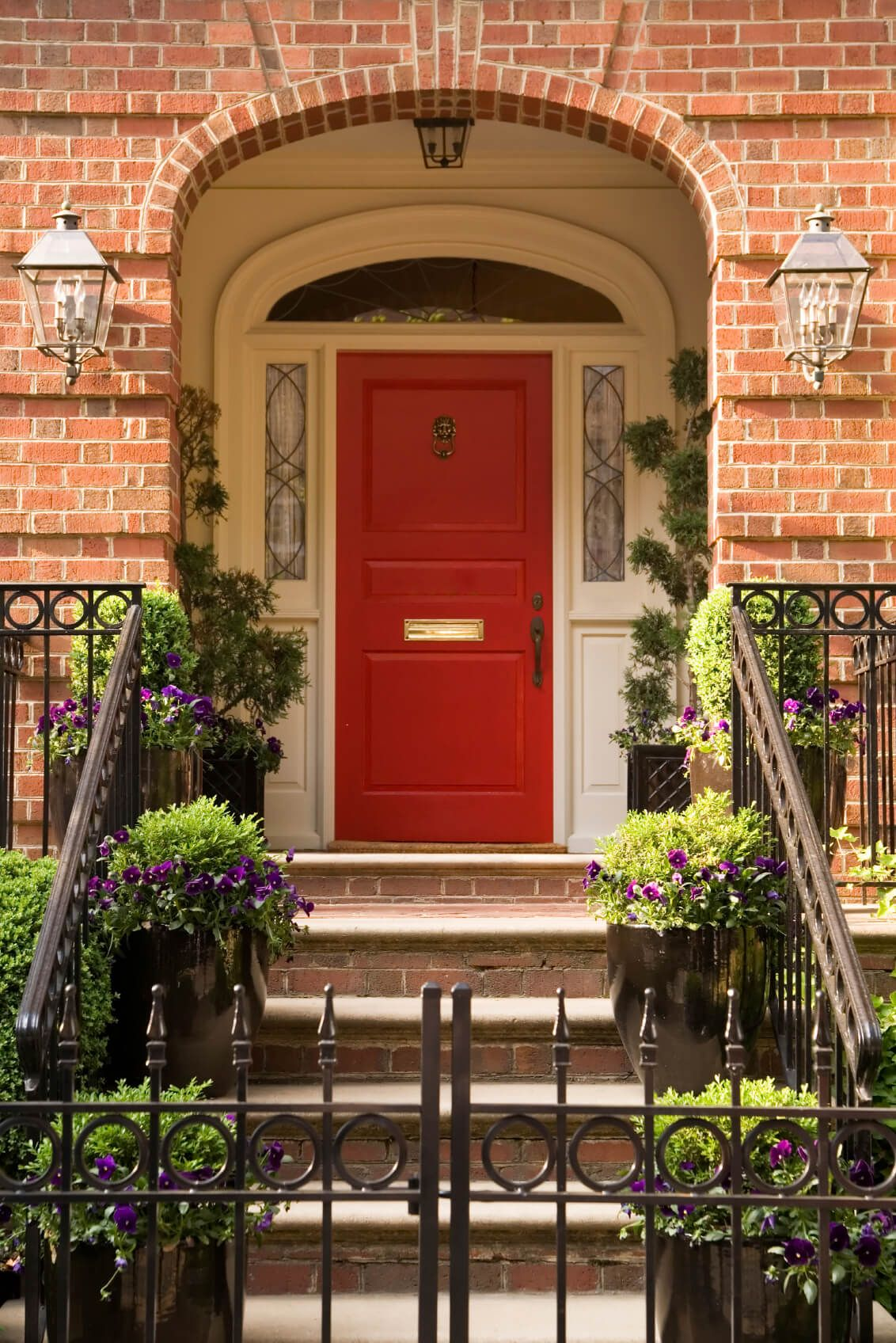 35 Different Red Front Doors (Many Designs & Pictures)   Lion door ...