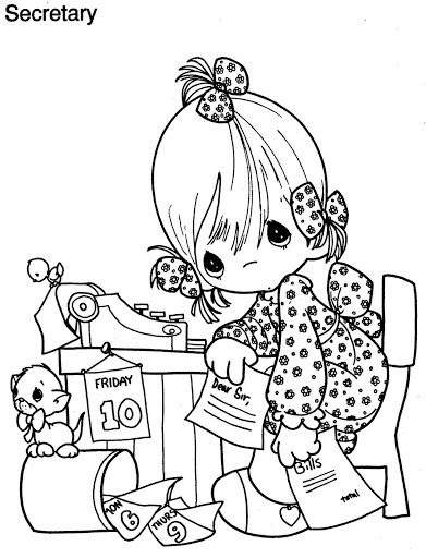 Secretary S Day Coloring Pages Precious Moments Coloring Pages Coloring Pages Free Coloring Pages