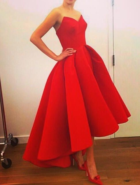 Short red prom dress, Vintage prom dress, red prom dresses, online ...