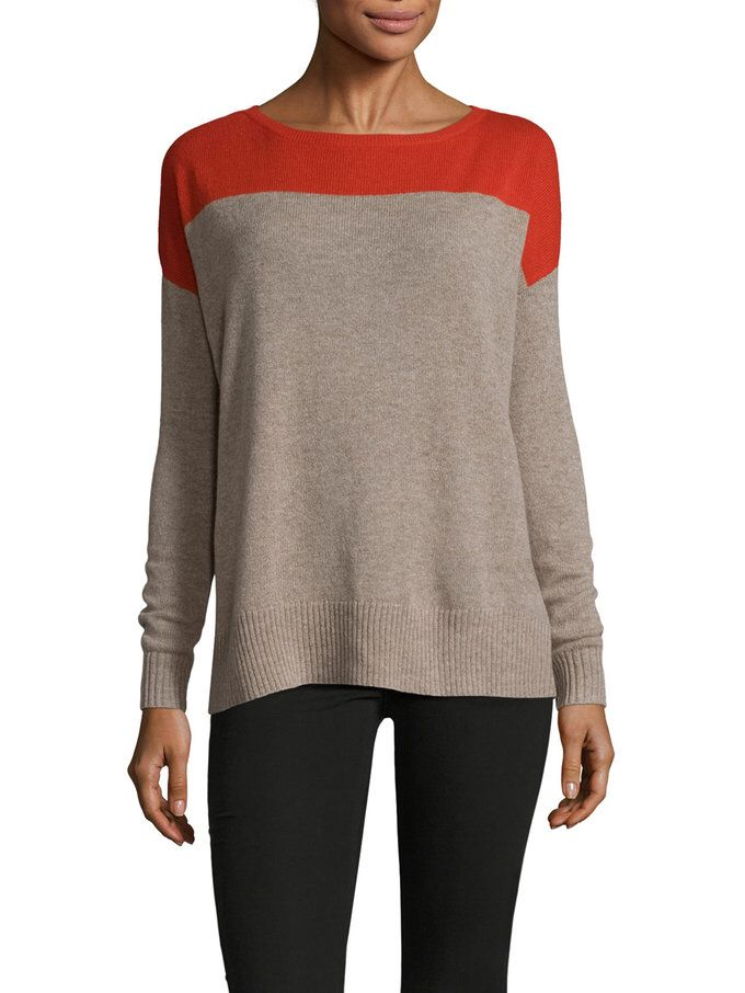 8e5d58ef2b Colorblock Boatneck Sweater from Leo