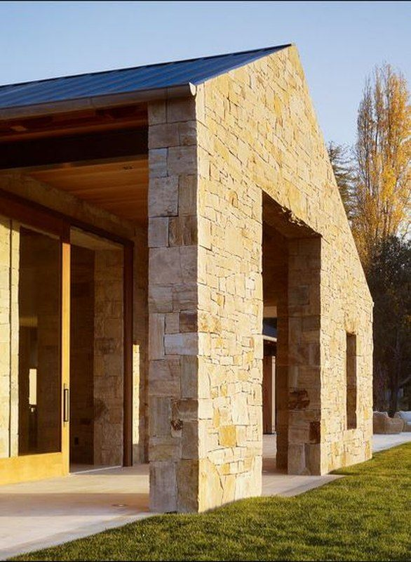Porche Bois Maison maison contemporaine en pierre et bois traditionnel aux usa | dream