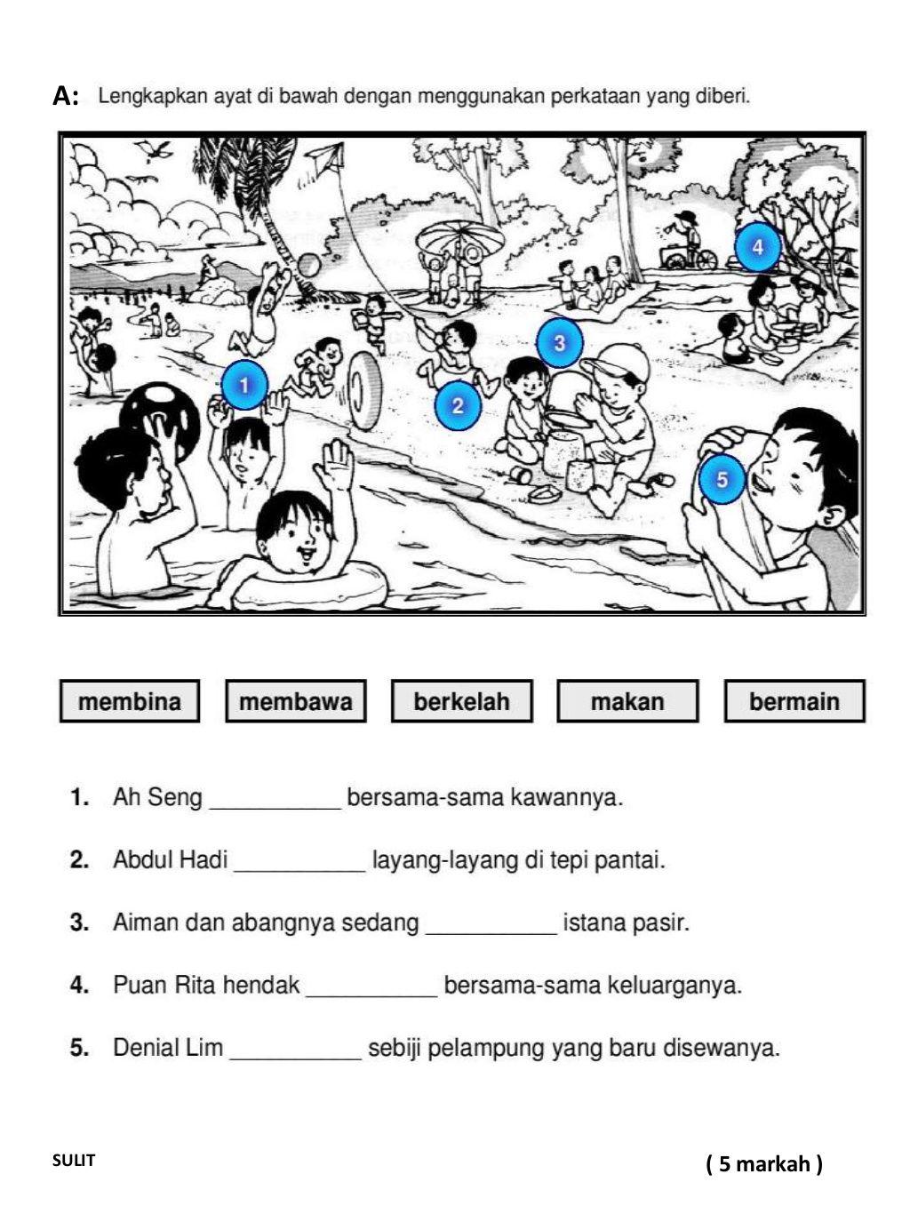 Ujian Selaras Bahasa Melayu Tahun3 In