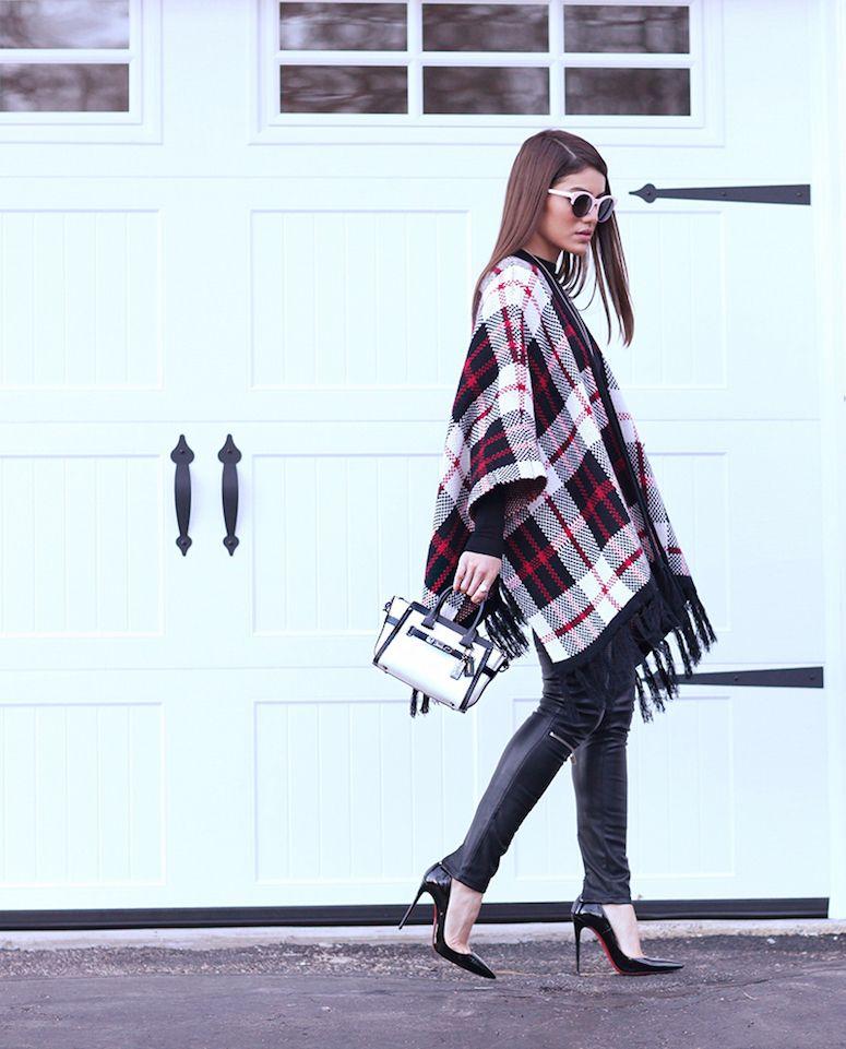 Looks estilosos com poncho para você se inspirar e se aquecer
